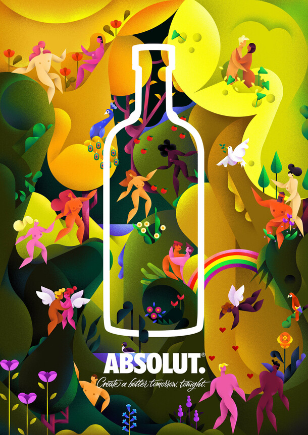 Absolut Vodka : Jardin d'Eden
