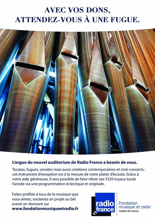 Campagne de financement de l'orgue du nouvel auditorium de Radio France