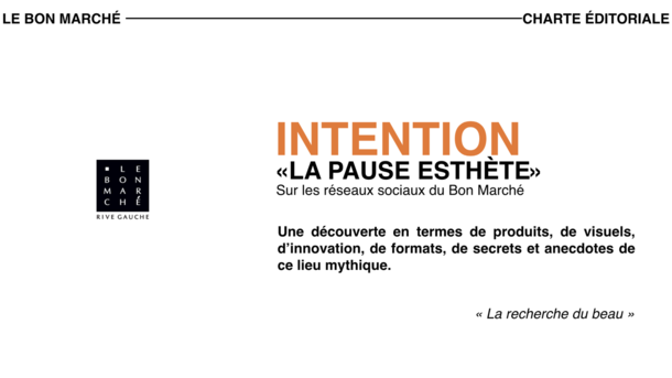 Le Bon Marché - Charte éditoriale / Social media