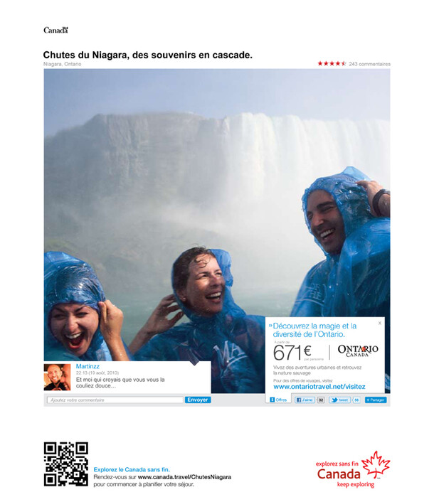 Print campaign for the Canada Office of Tourism