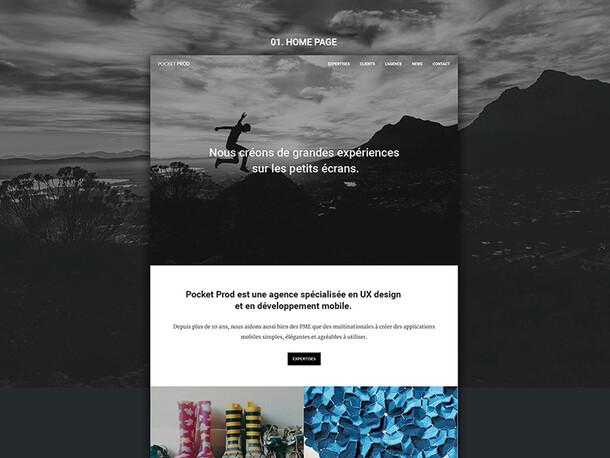 Pocket prod - UX/UI agency showcase website