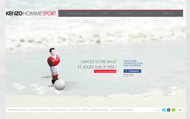 site événementiel Kenzo Homme Sport