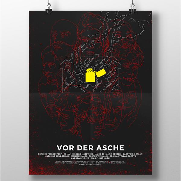 VOR DER ASCHE - AFFICHE + TITRAGE FILM