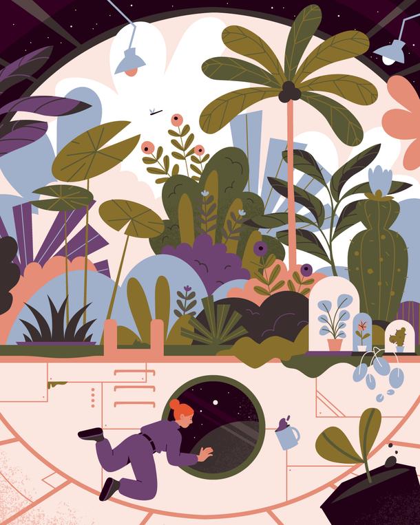 Astrobotany