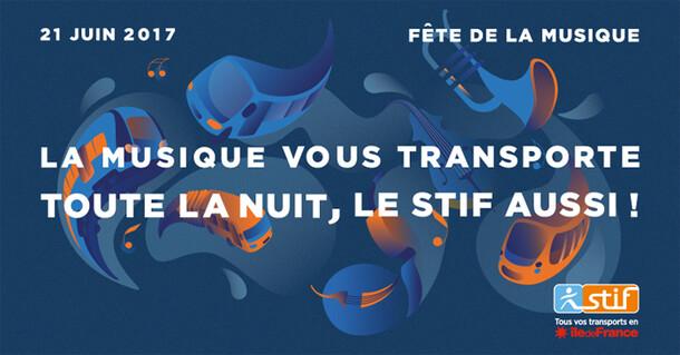 """STIF's print campaign during """"Fête de la Musique 2017"""""""