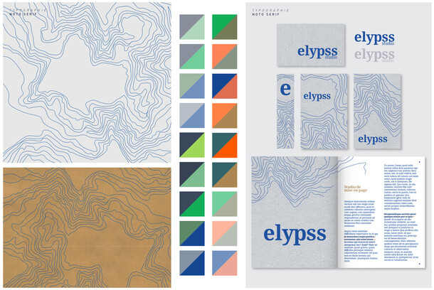ELYPSS STUDIO : Identité visuelle, direction artistique et web design