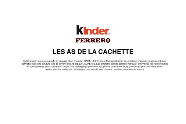 FERRERO. KINDER - ACTIVATION DIGITALE 2