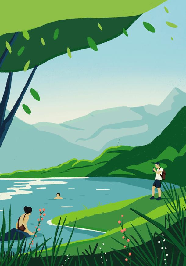 Printemps au lac