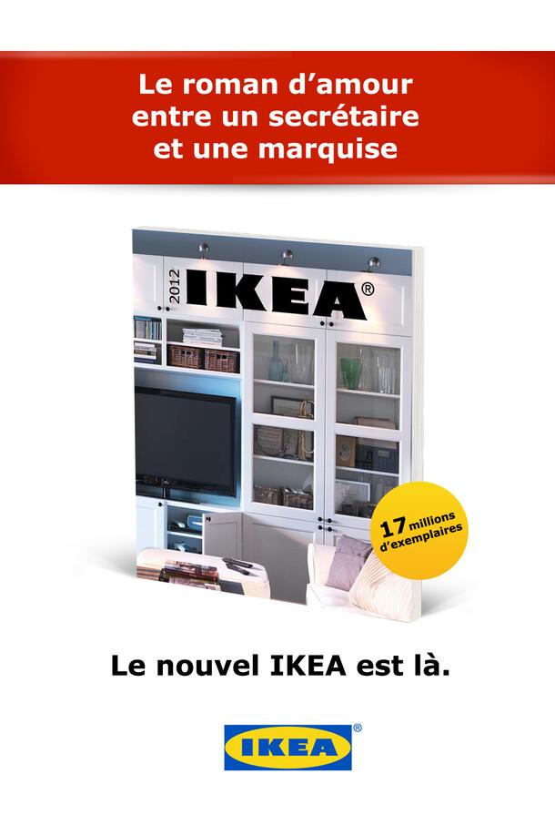 Afichage Ikea - lancement du nouveau cataglogue