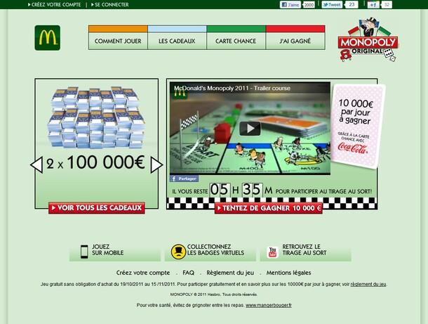 McDonald's Monopoly 2011