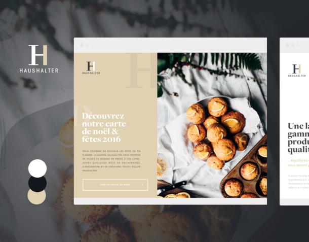 Direction artistique  - Maison Haushalter - UI & Print Design