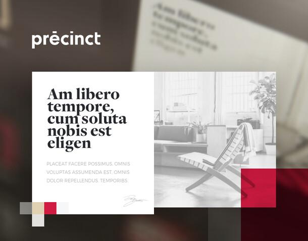 Identité visuelle - Precinct - Agence immobilière de Luxe