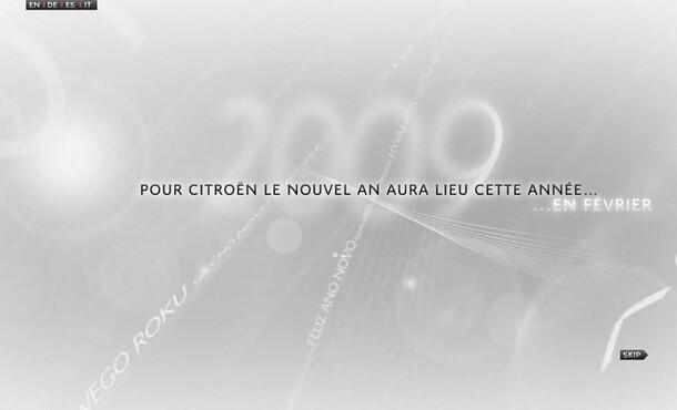 Citroën vœux 2009