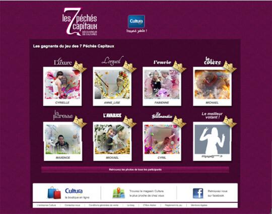 Cultura – Borne en magasin et site interactif « Les sept péchés capitaux »