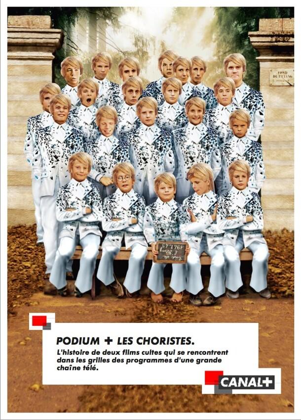 Canal + Podium + Les choristes. Film TV et annonce presse