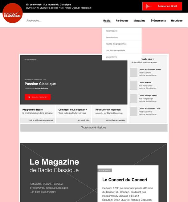 Radio Classique - Refonte du site internet
