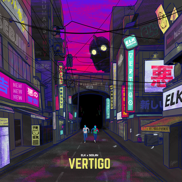 Single Cover VERTIGO Elk ft. Sebjin