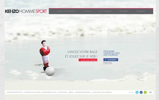Kenzo Homme Sport website