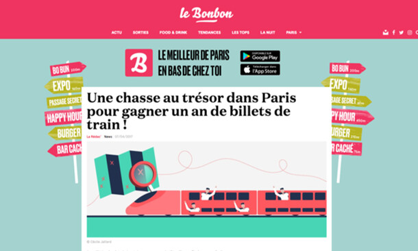 Trainline x Le Bonbon / Catch me if you can